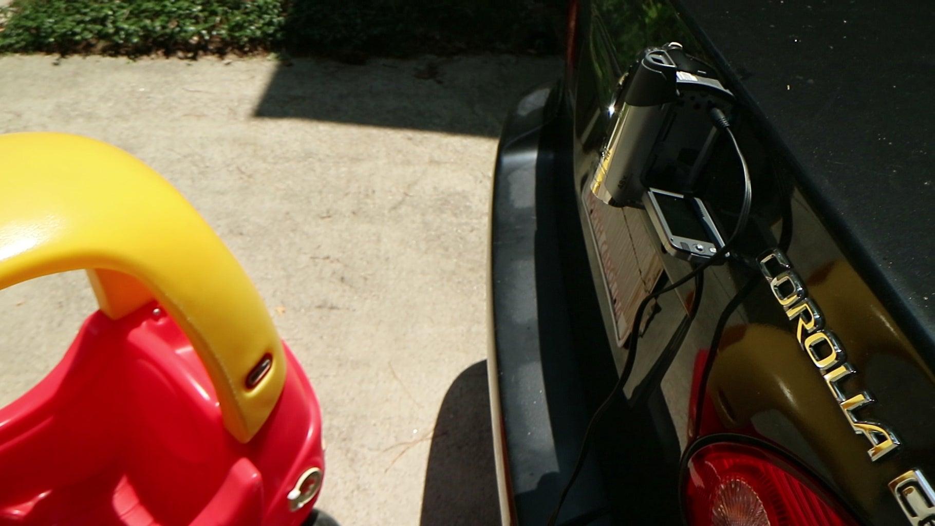 Upcycled Camcorder Backup Camera