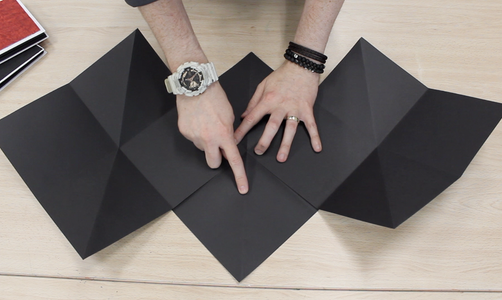 Step 5: Flip the Middle Folded Paper and Sticking