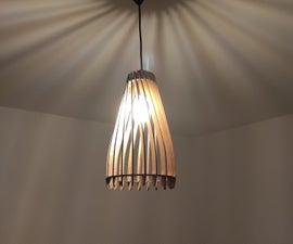 Laser Cut Wooden Lamp Shade