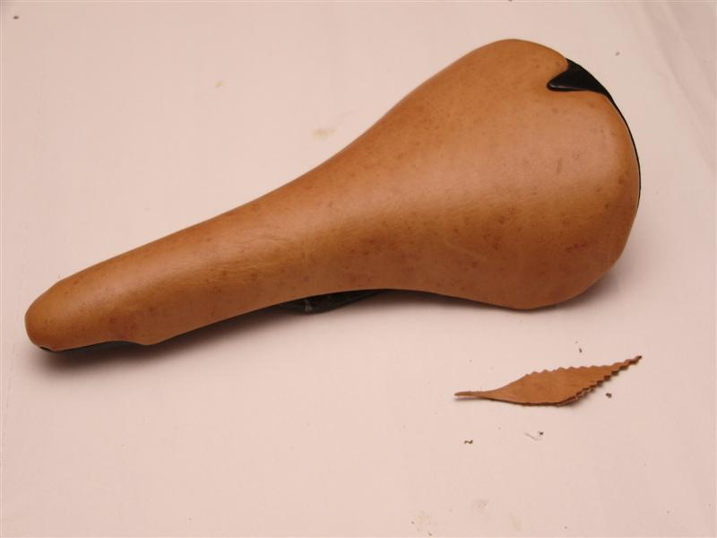 Cover your worn bicycle saddle with real leather