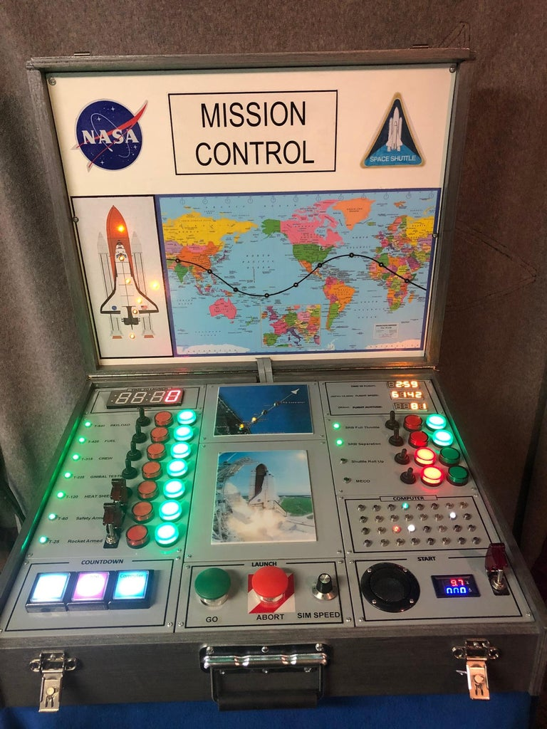 A Shuttle Mission Control Mock-Up for Kids