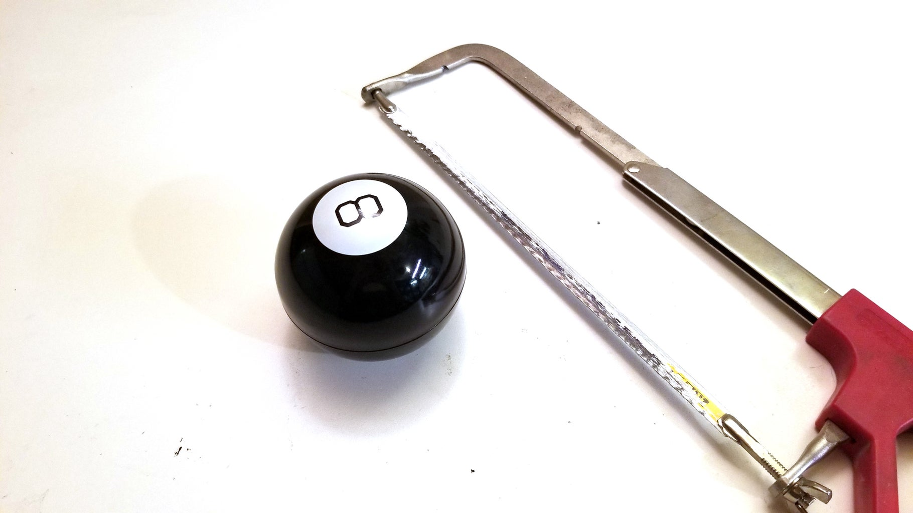 Cut Magic 8-Ball in Half