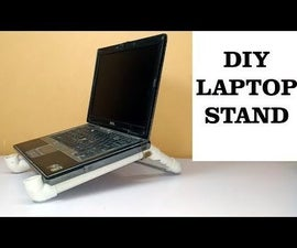 DIY Laptop Stand With PVC Pipes