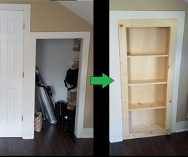 Hidden Bookshelf Door for Closet