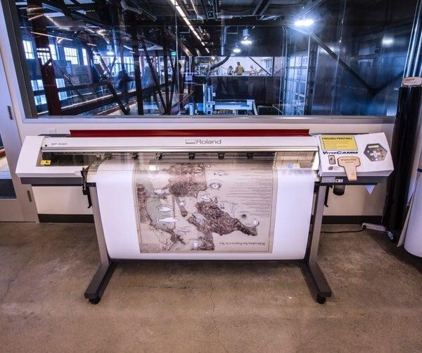 Pier 9 Guide: Roland VersaCAMM Vinyl Printer
