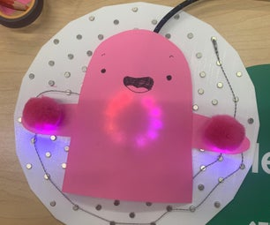 Happy Ghost Lightup Card