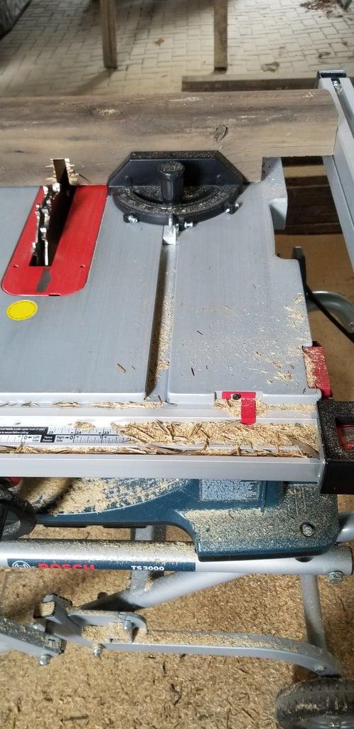Measure and Make the Cross Brace Dado Cuts