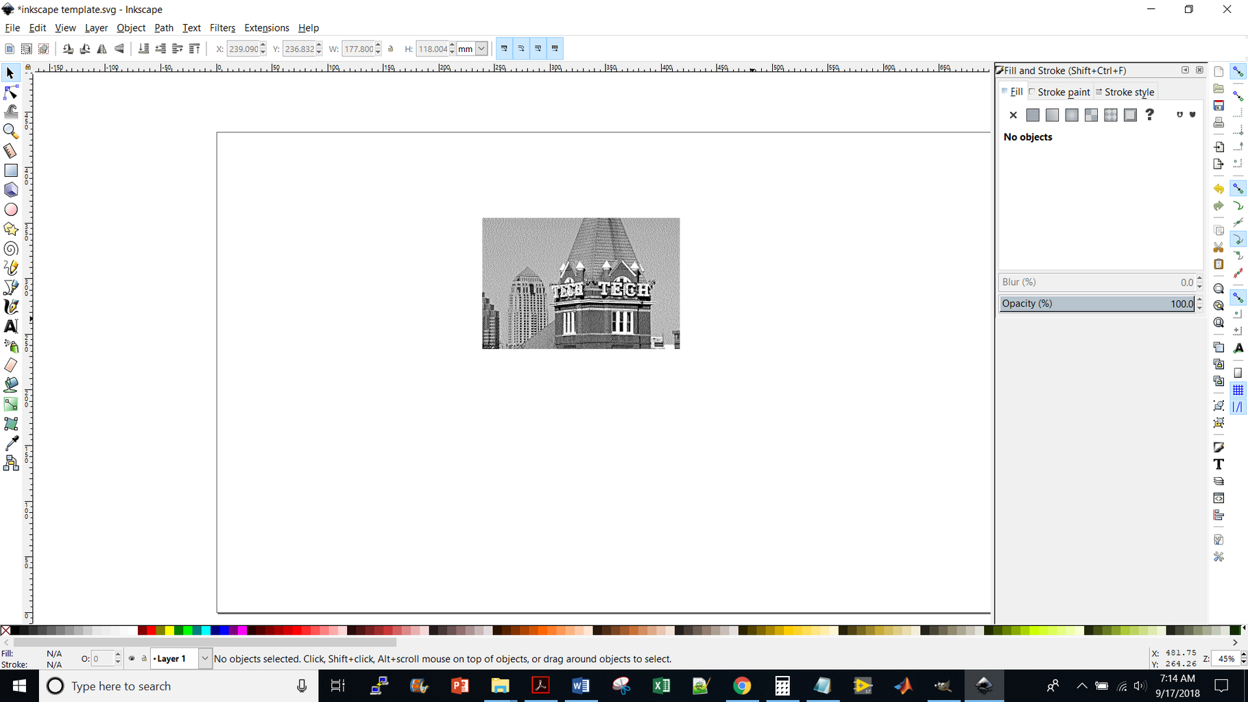 Copy the Dithered Image With Ctrl+c Into Inkscape, Send It to the Laser, and You're Done!