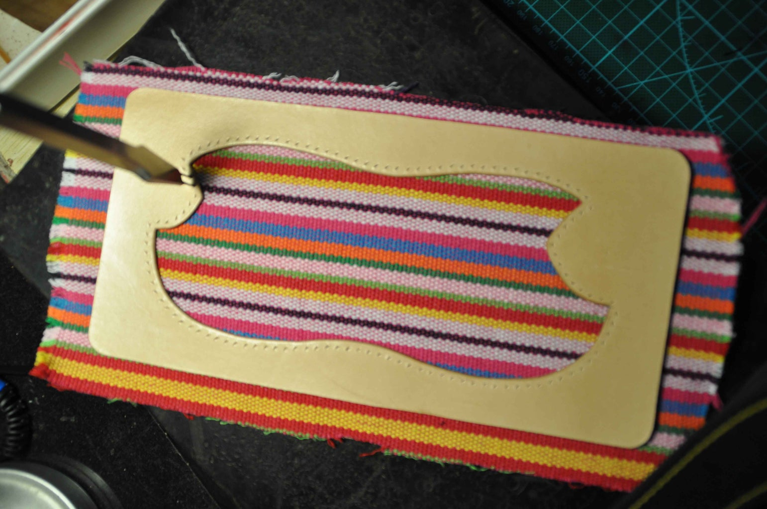 You Can Punch Holes and Sew Then Together Now. After Sewing, Cut Off the Redundant Part.