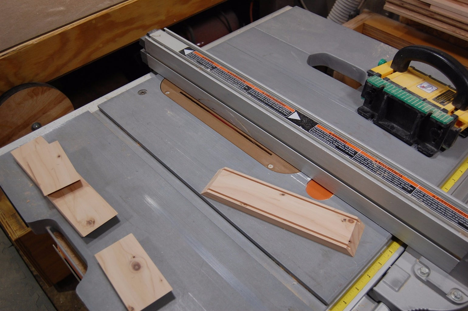 Grooves for Panels and Holes for the Steel Rod