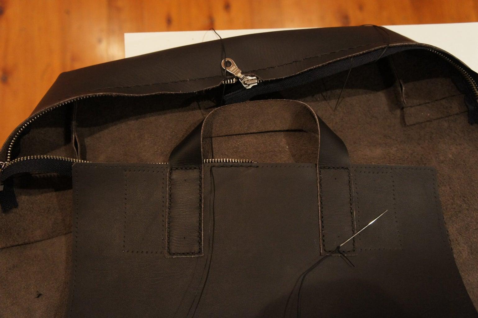 Back Panel: Attaching Lower Shoulder Strap