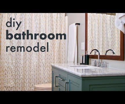 DIY Bathroom Remodel // How to Install a Toilet & Vanity, Build a Mirror Frame