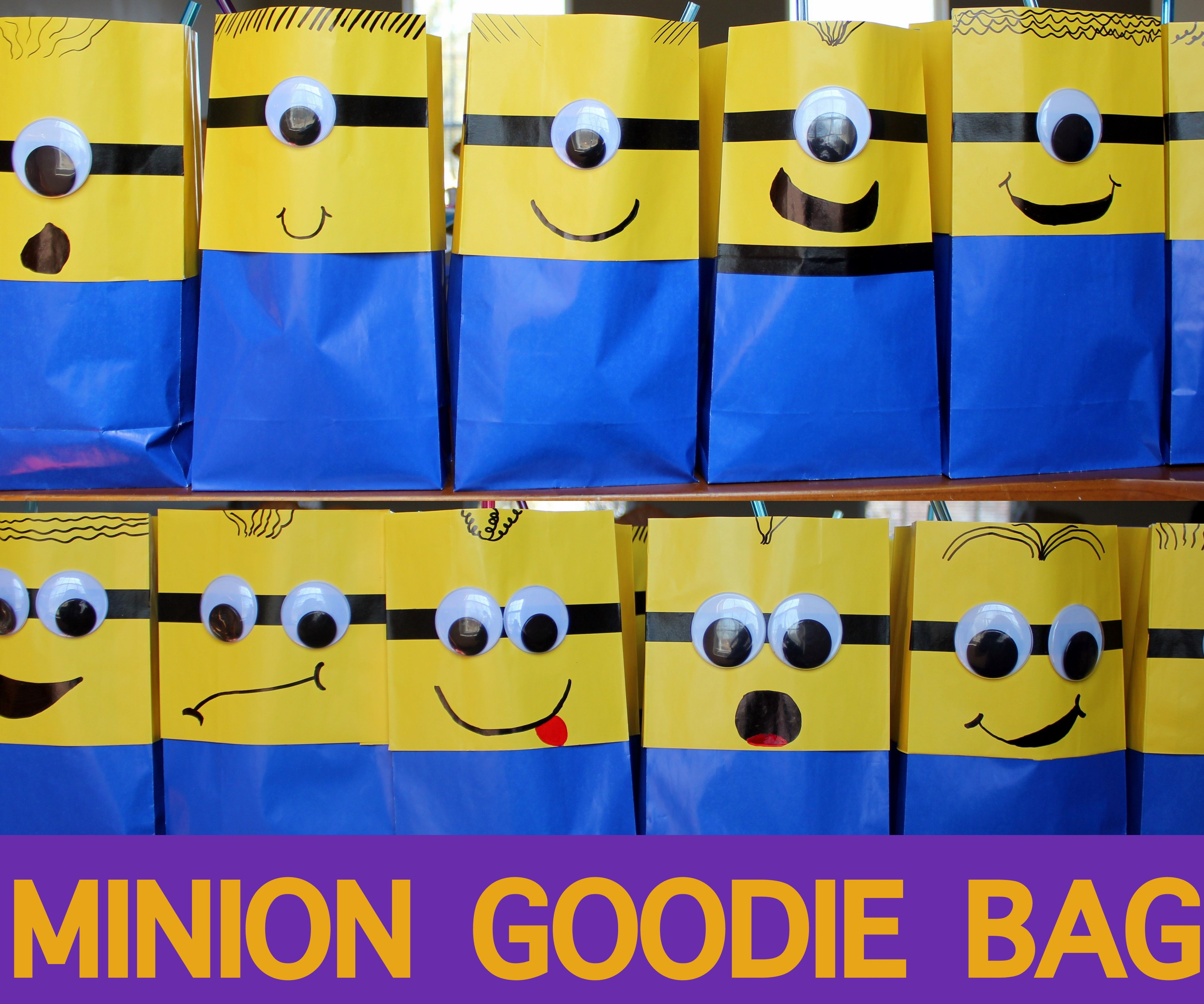Minion Goodie Bags from Despicable Me
