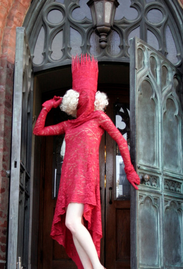 Lady GaGa Red Lace Costume