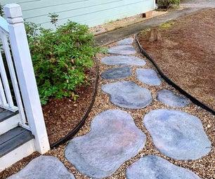 DIY混凝土踩踏石头看起来很自然