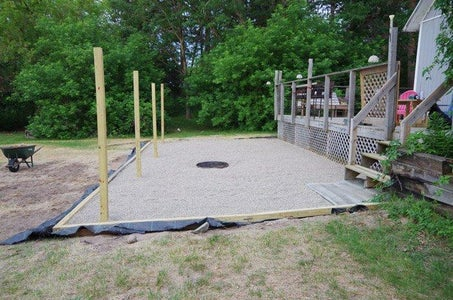 Framing Out the Lower Deck and Smoothing Out the Pea Gravel