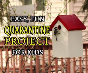 Simple Birdhouse | Easy Quarantine Project With the Kids | FREE PLANS!