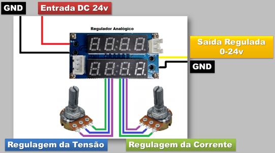 Analog Regulator Connection (chip: XL4005)