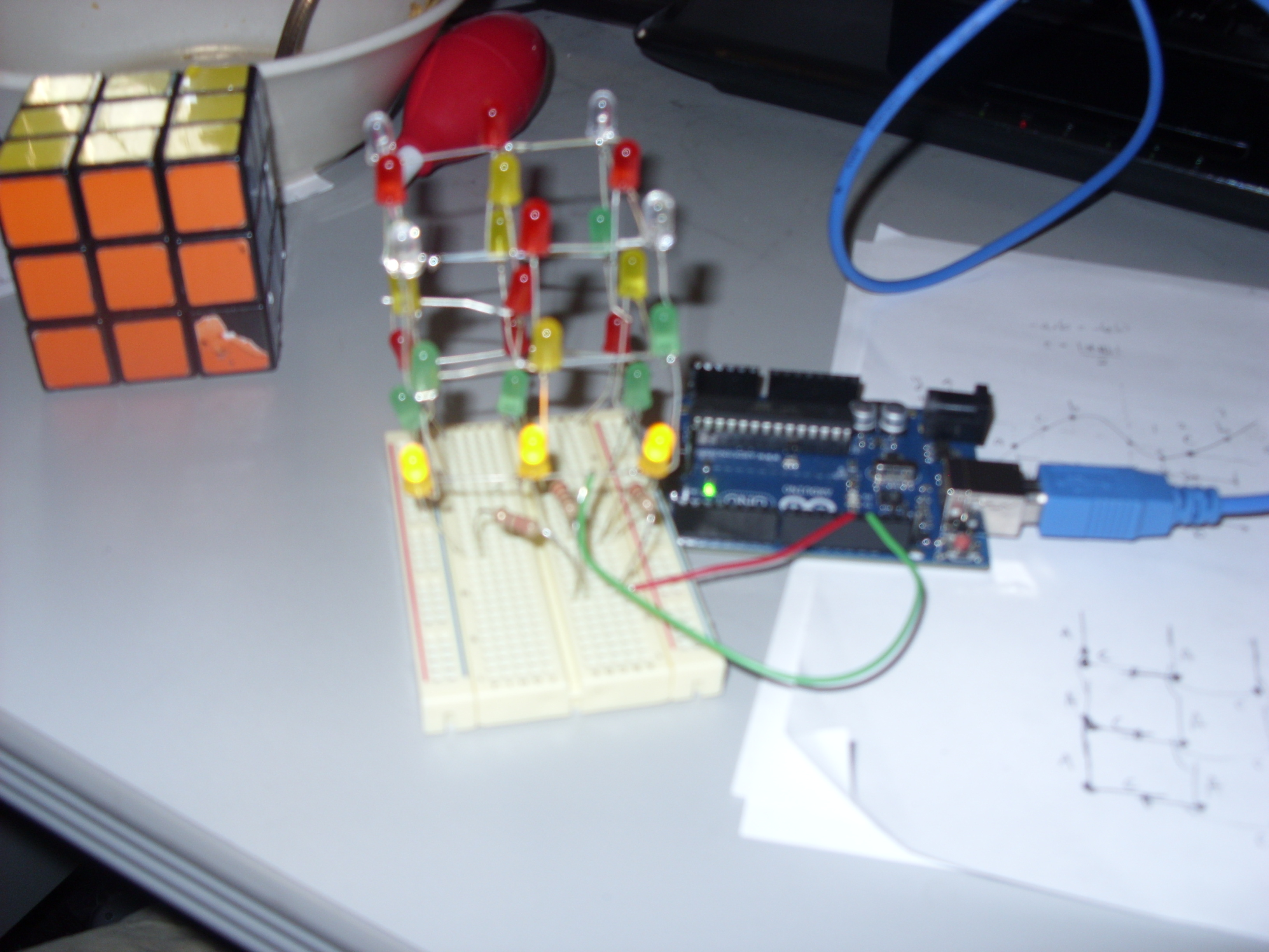 3 x 3 LED Cube with Arduino UNO