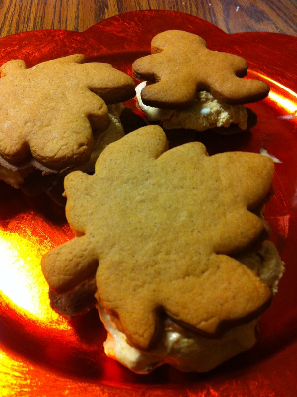 Gingerbread- Pumpkin Icecream Sandwiches