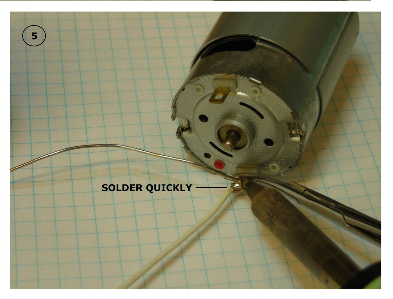 Soldering Wires to Dc Motor