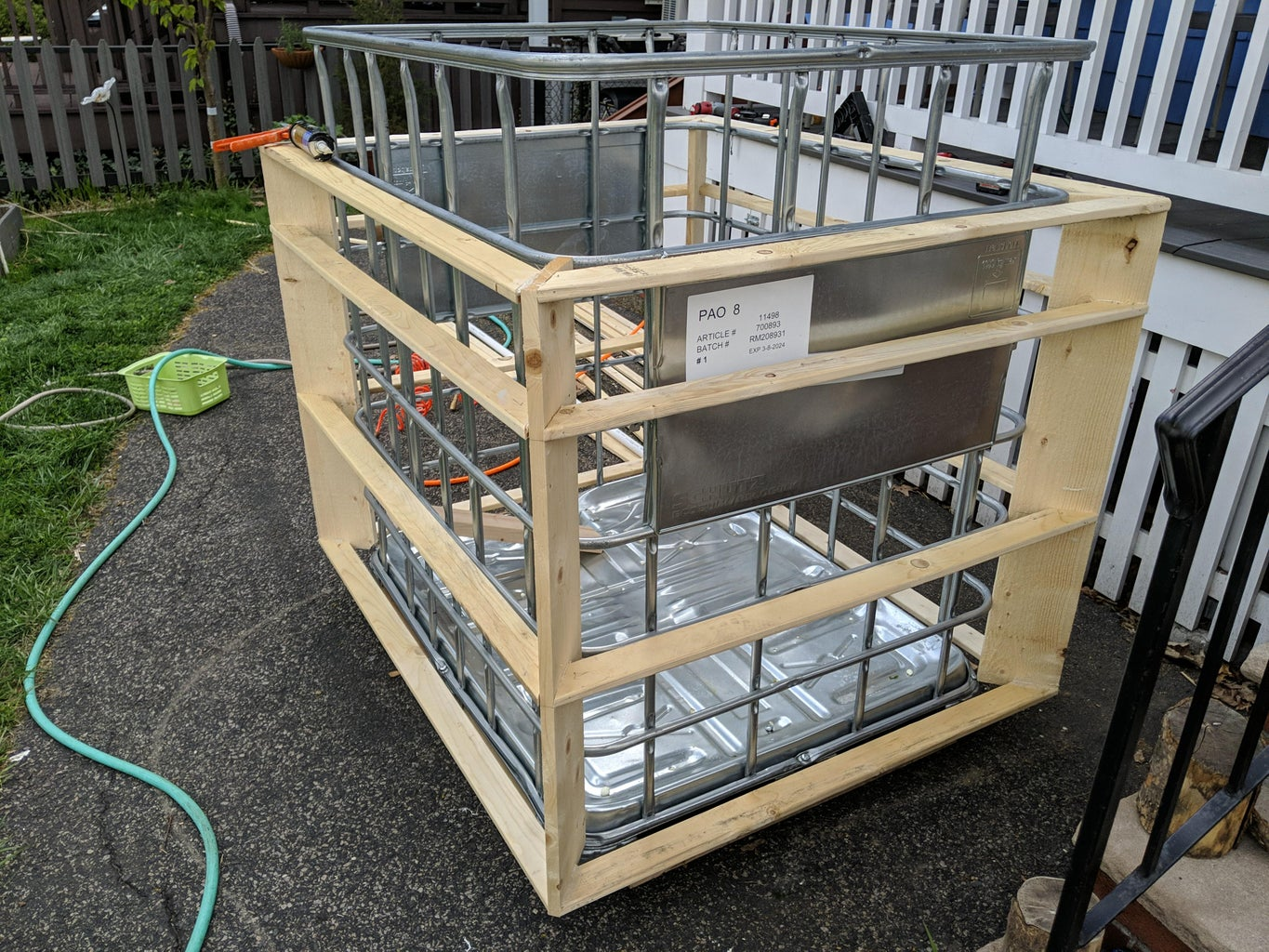 Frame Out the IBC Cage to 3 1/2 Inches
