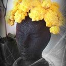 Cauliflower Head: Halloween Veggie Centerpiece