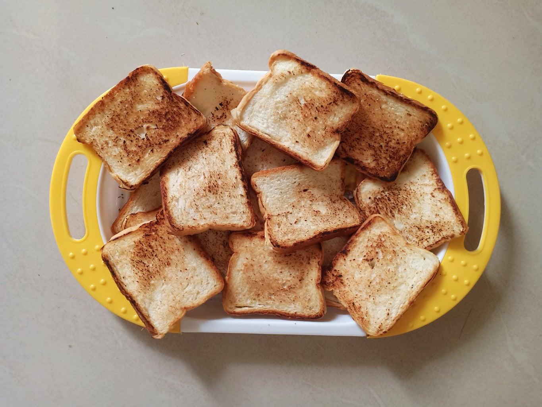 Preparing Bread Crumbs