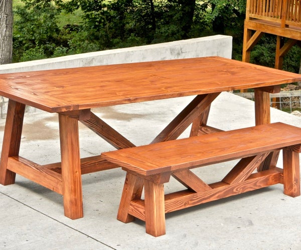 How to Build a Farmhouse Table and Benches for $250 | Woodworking DIY