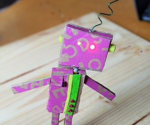 Cardboard Robot With Soldered Circuit