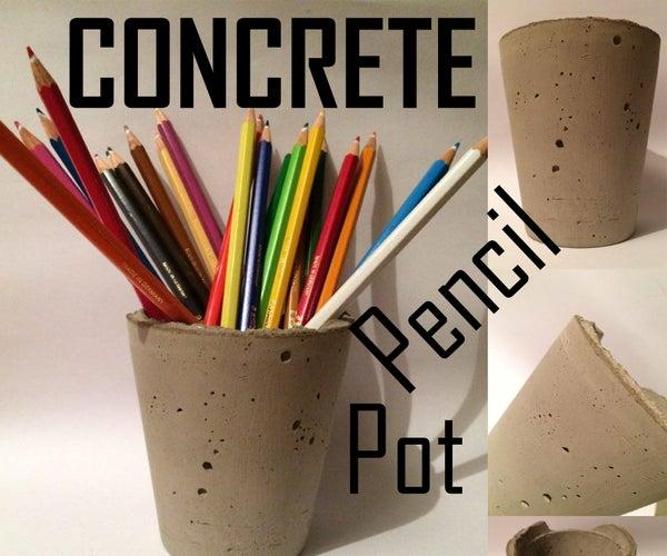 Concrete Pencil Pot