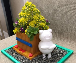 Teddy Bear Planter