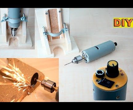 Mini Drill With Router Base
