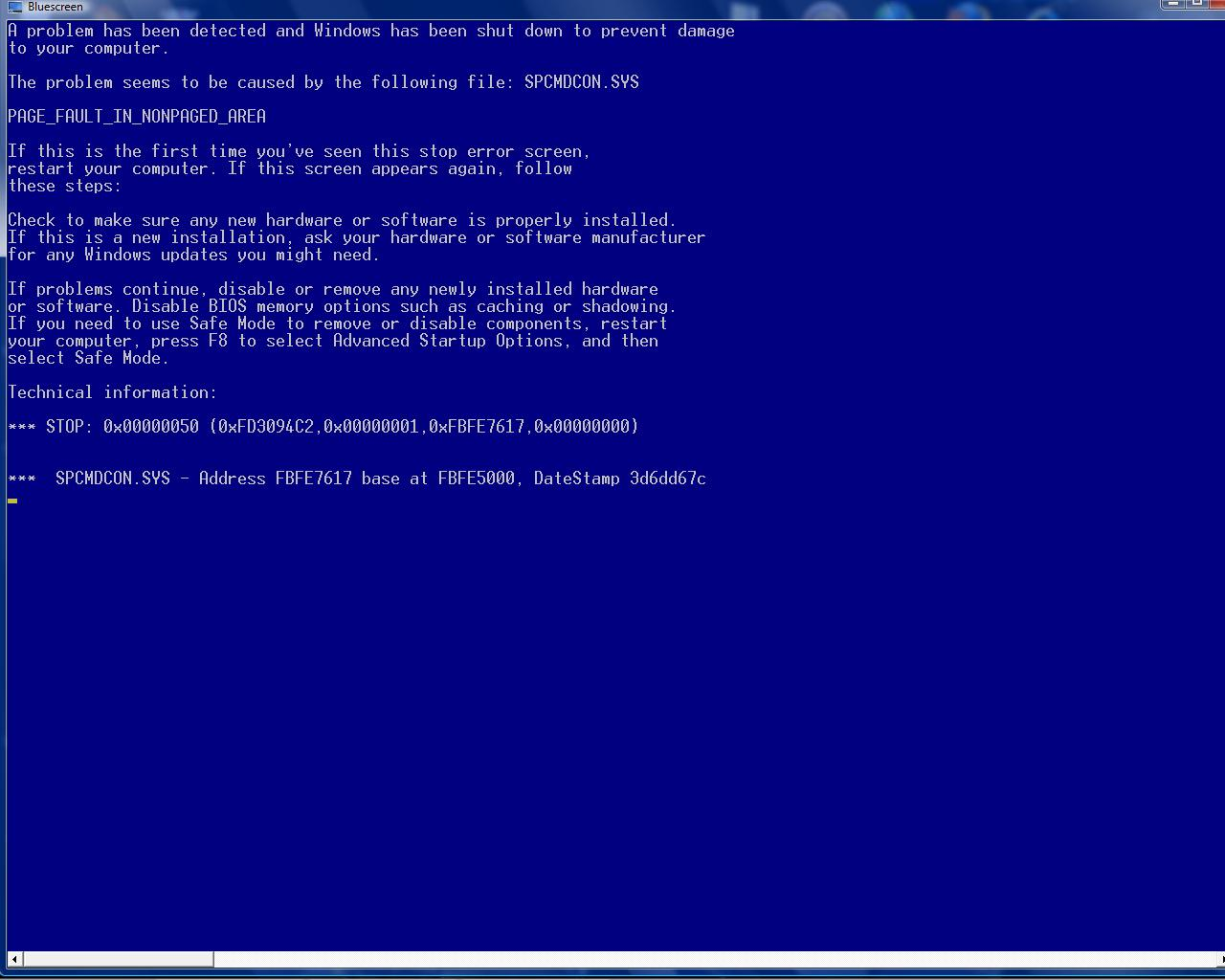 Blue Screen of Death batch
