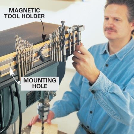 Magnetic Bit Rack