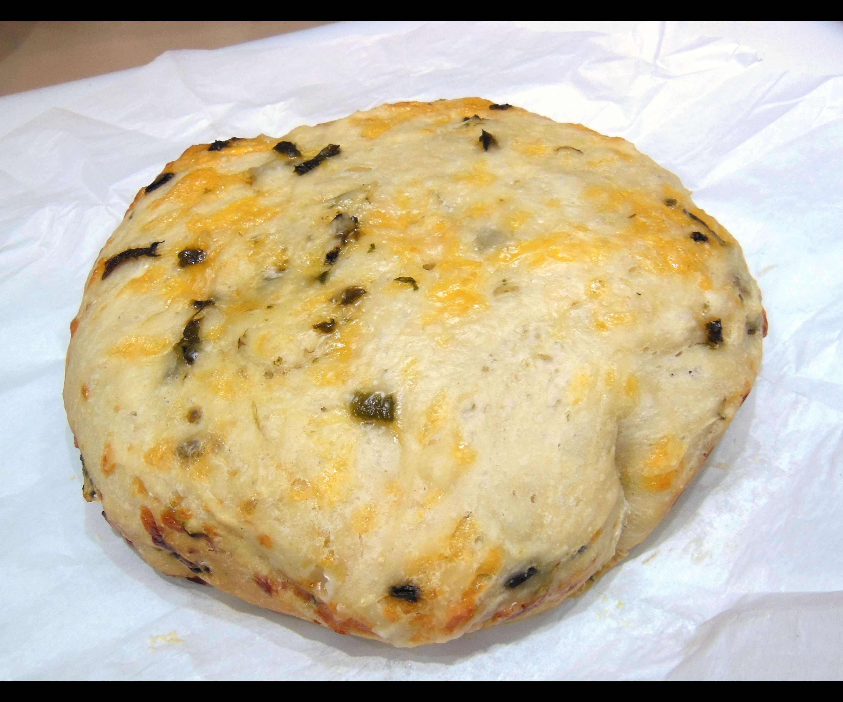 Slow Cooker Cheddar Bread with Roasted Poblanos