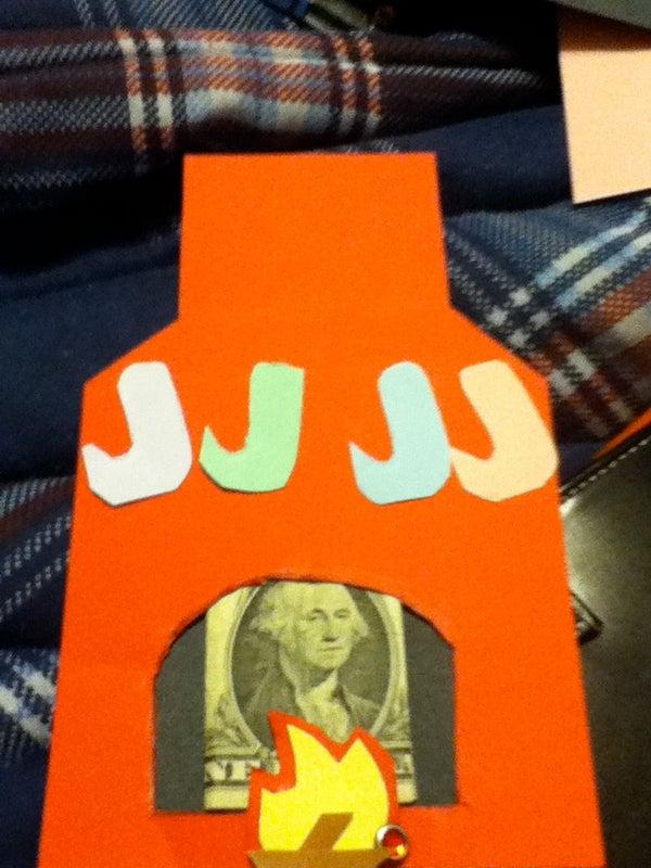Money Gift Card Holder - Fireplace