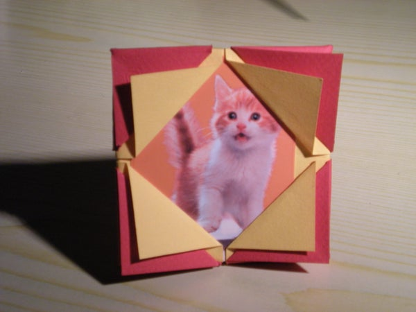 How to Make an Origami Picture Frame.