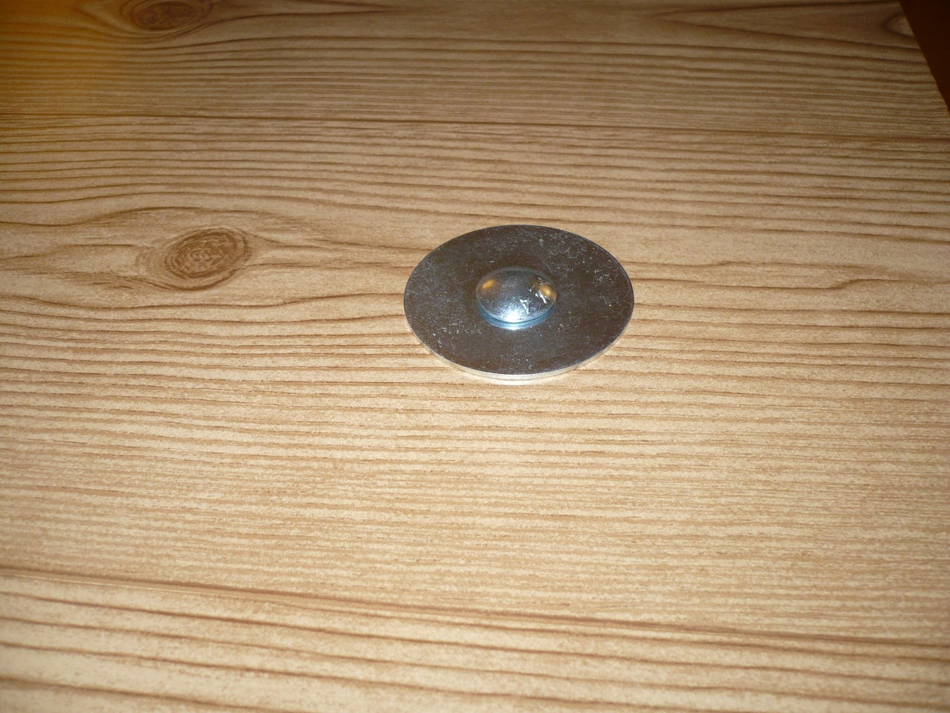 Put the Washer/bolt Into the Table.