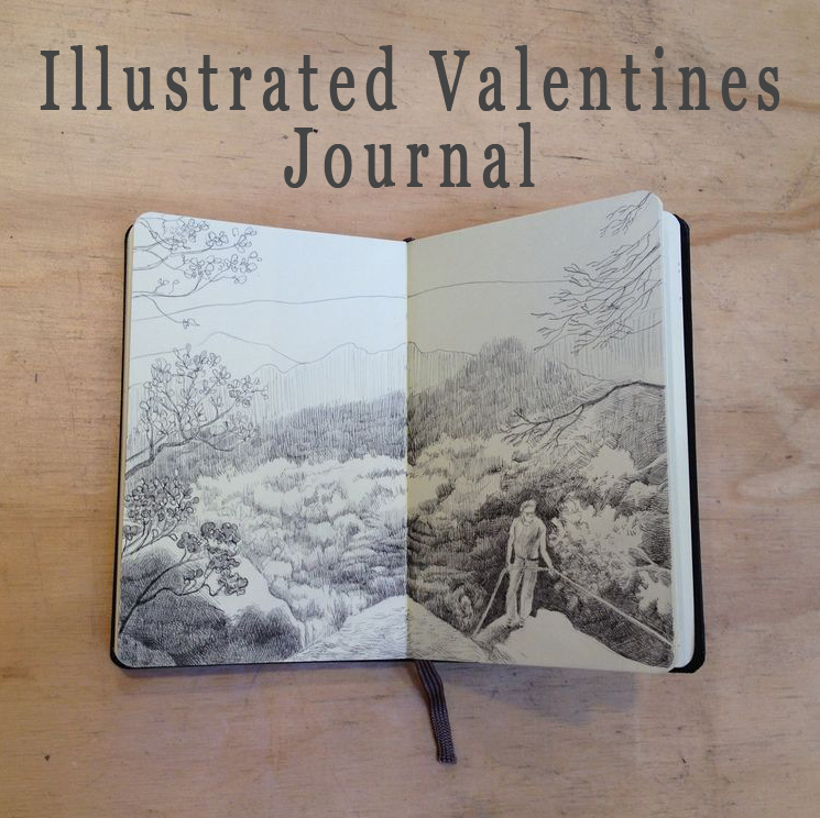 Illustrated Valentines Journal