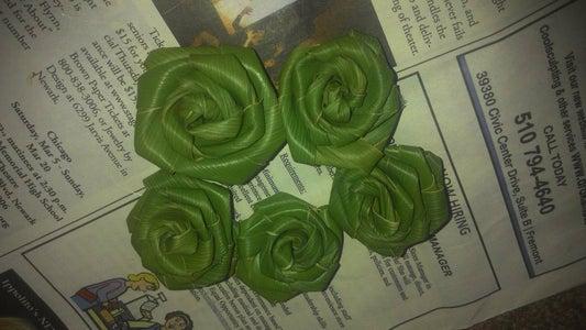 Natural Leaf Flower- Green