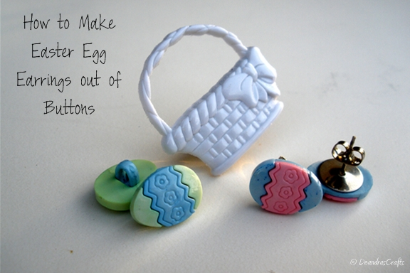 Easter Egg Earring Set Made out of Cute Egg Buttons
