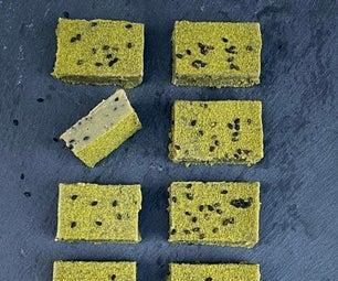 Matcha and White Chocolate Squares