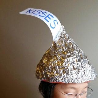 Funny Foil Hershey Kiss Hat