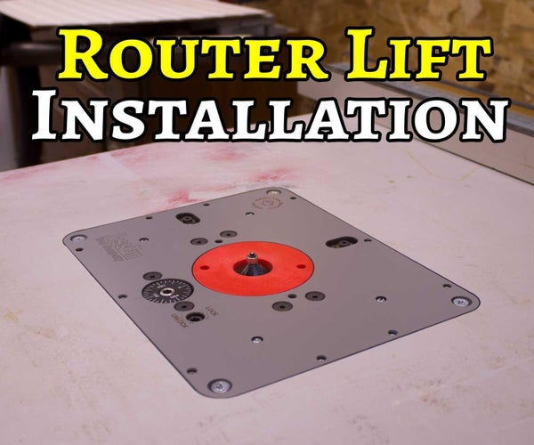 Install a Router Lift in a Table Saw Extension