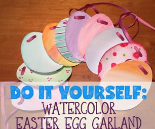 Watercolor Easter Egg Garland