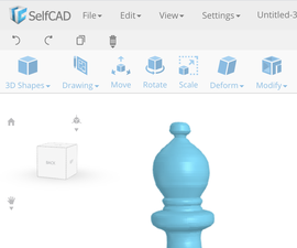 Learn SelfCAD- an Online 3D Modeling Software: Revolve Tool (Design a Bishop Chess Peice)