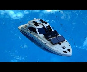 Modified RC Boat With Solar Panels!