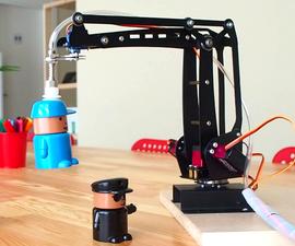 Robotic Arm With Vacuum Suction Pump