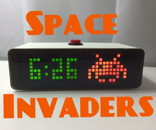 Animated Space Invaders Clock